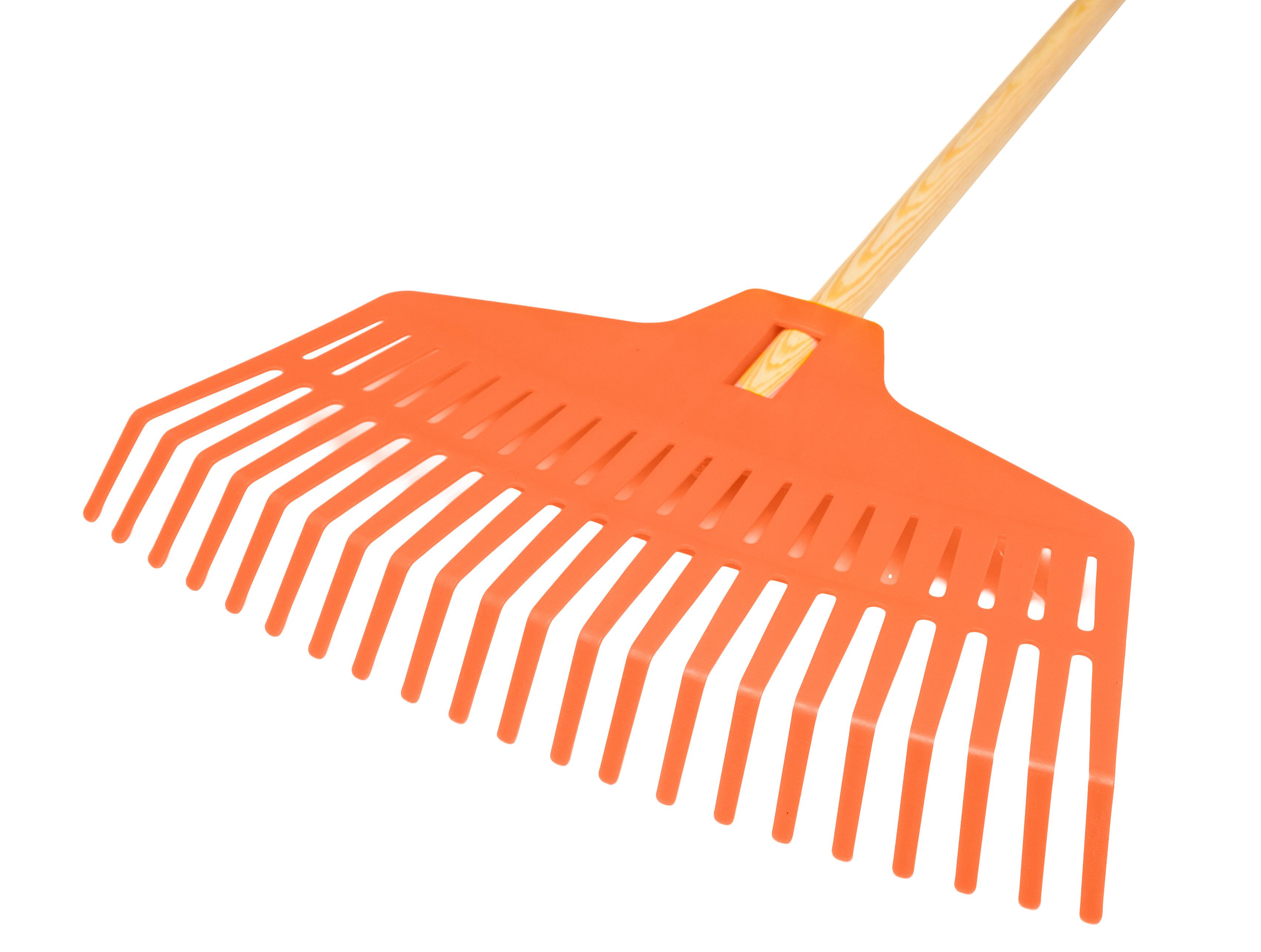 Grabie plastikowe do liści 40 cm Oprawne - trzon 150 cm fi 22 mm